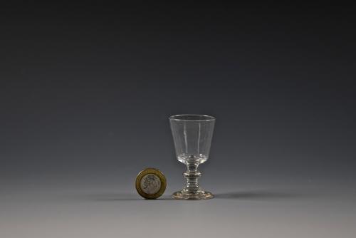 Miniature wine glass English C1820