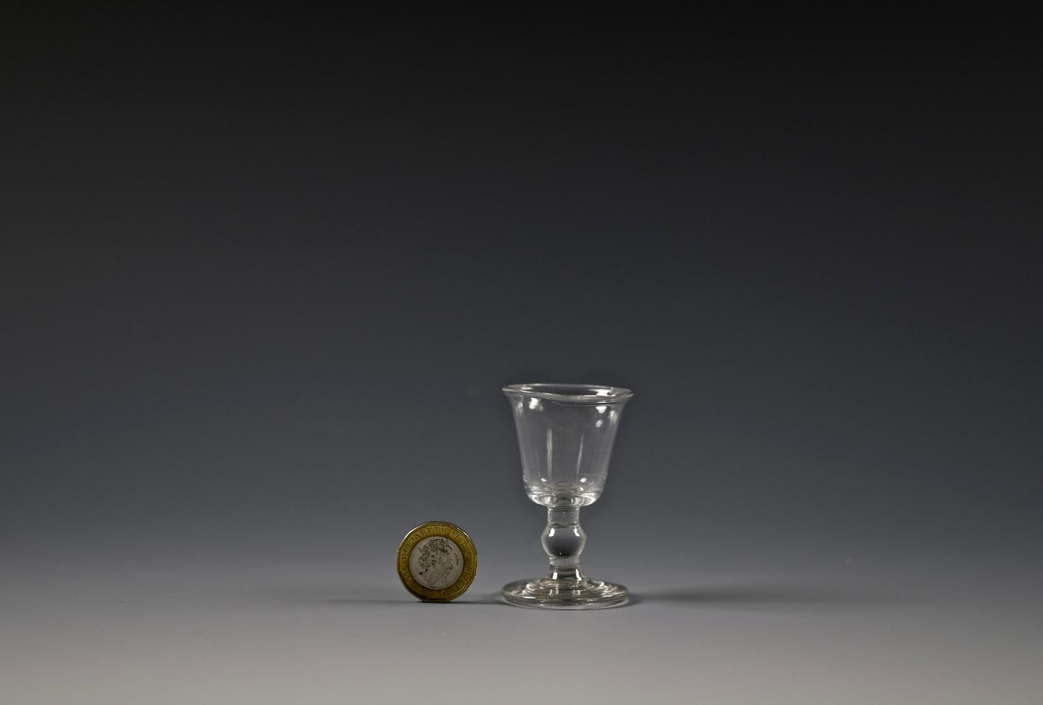 Miniature wine glass English C1820