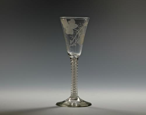Double series opaque twist wine glass C1760