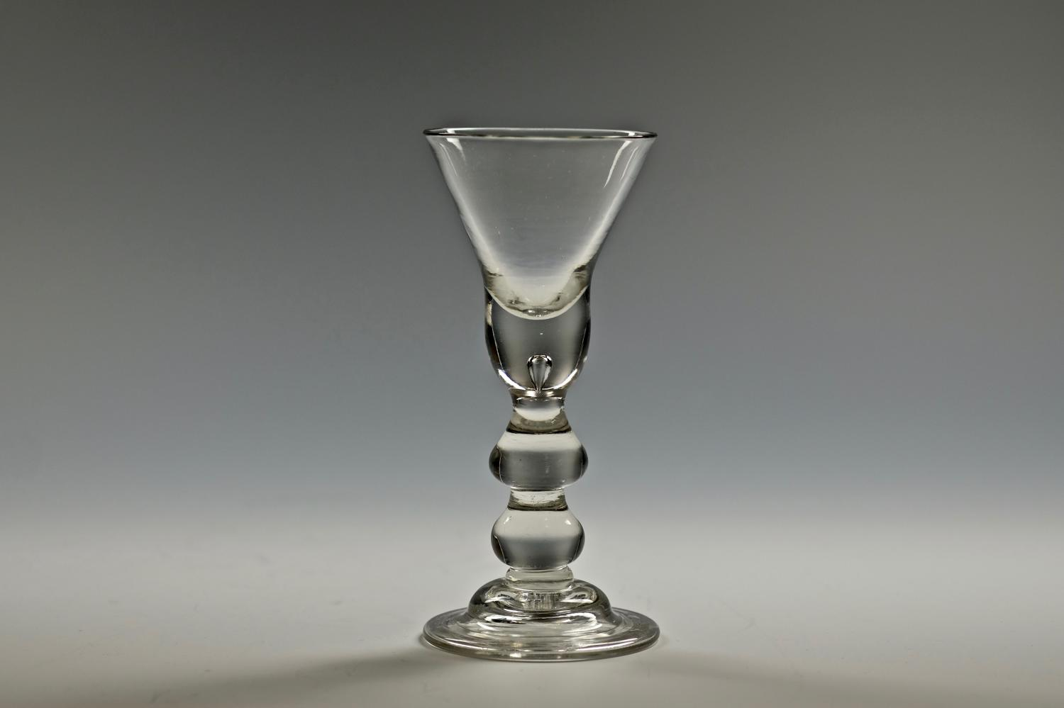 Heavy baluster wine glass C1715/20