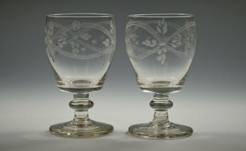 Fine pair of Irish rummers C1820