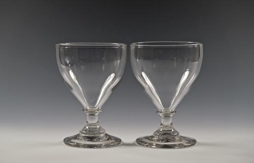 Fine pair of ovoid rummers English C1800