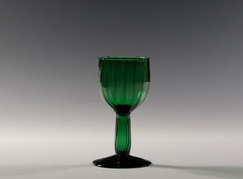 Green wine glass English C1770