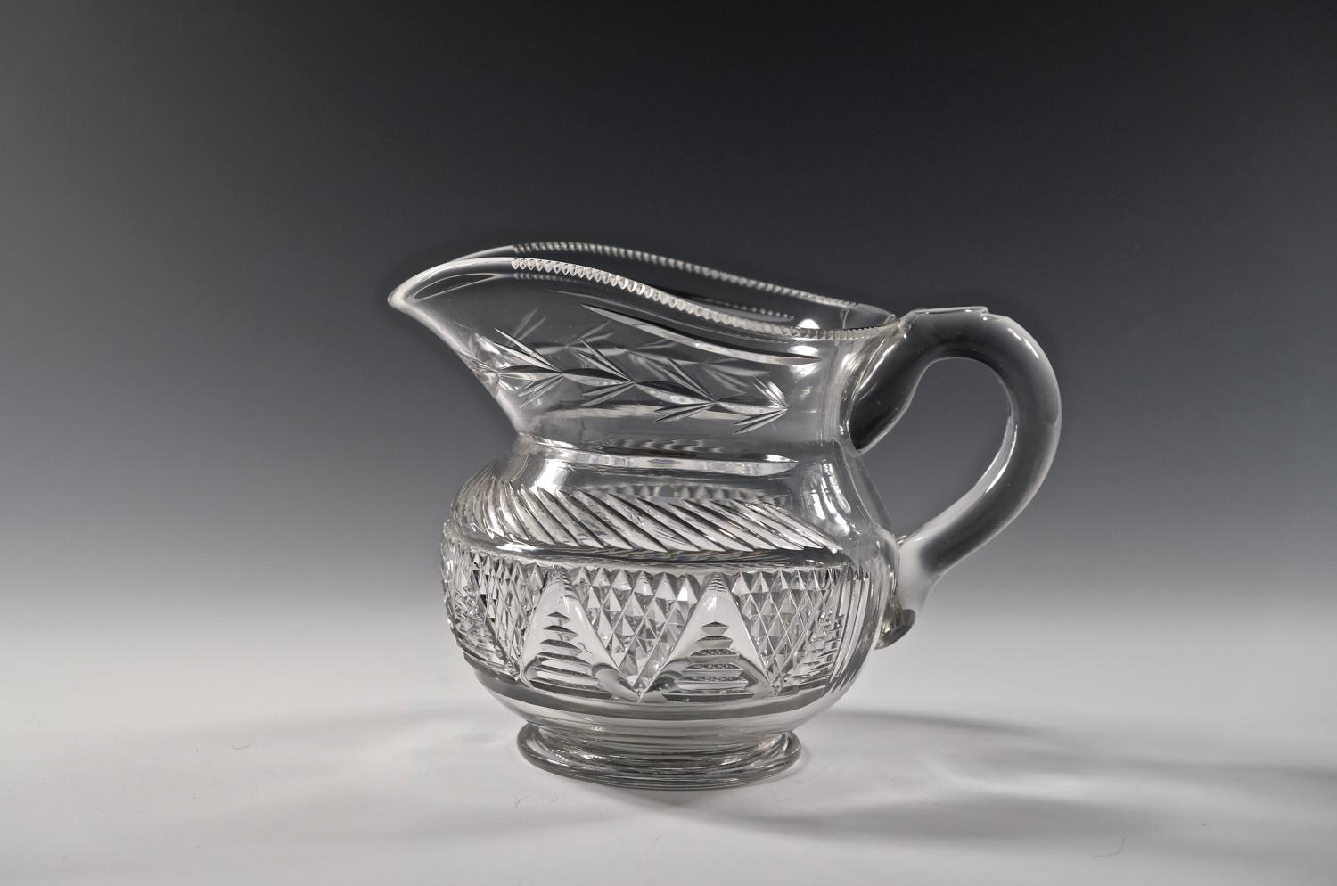 Cut glass water jug English C1830