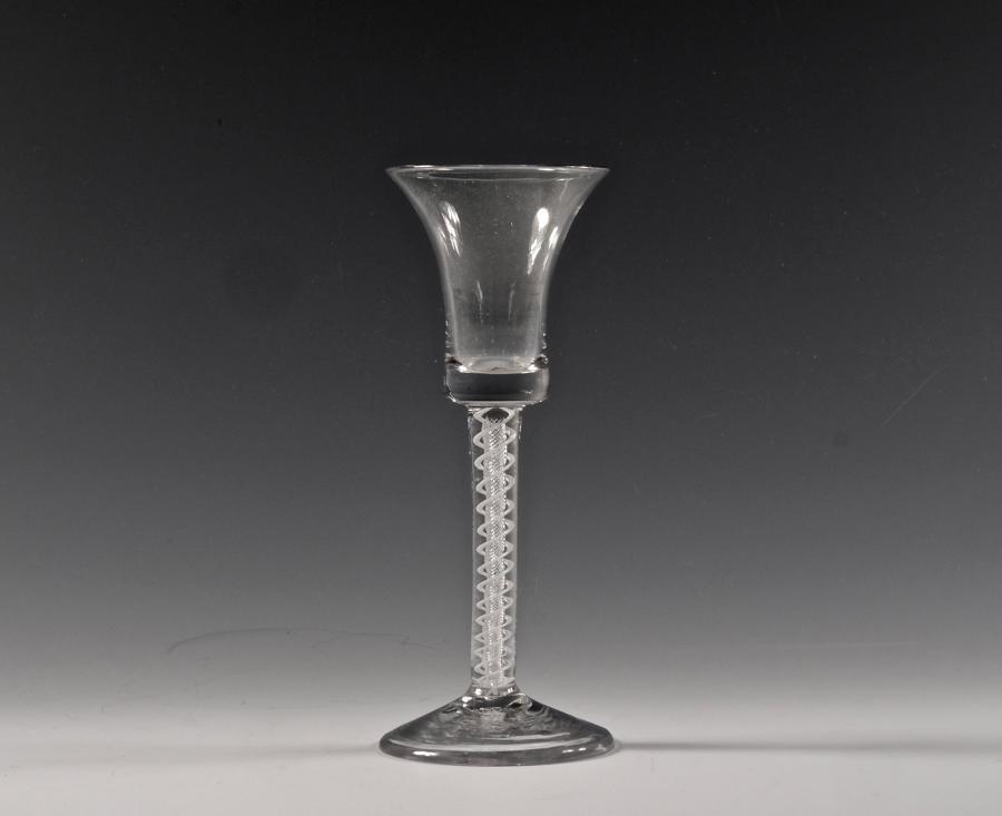 Mixed twist wine glass English C1760