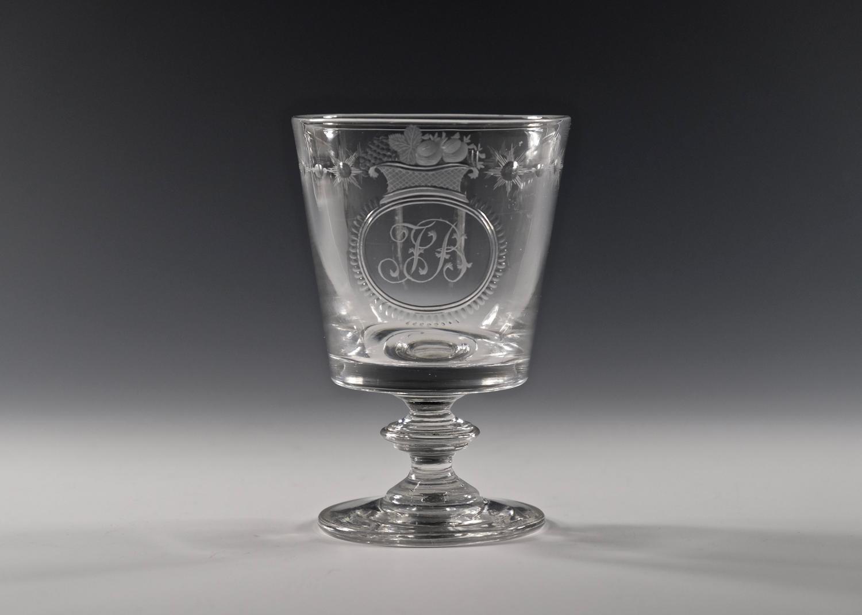 Engraved bucket bowl rummer English C1820