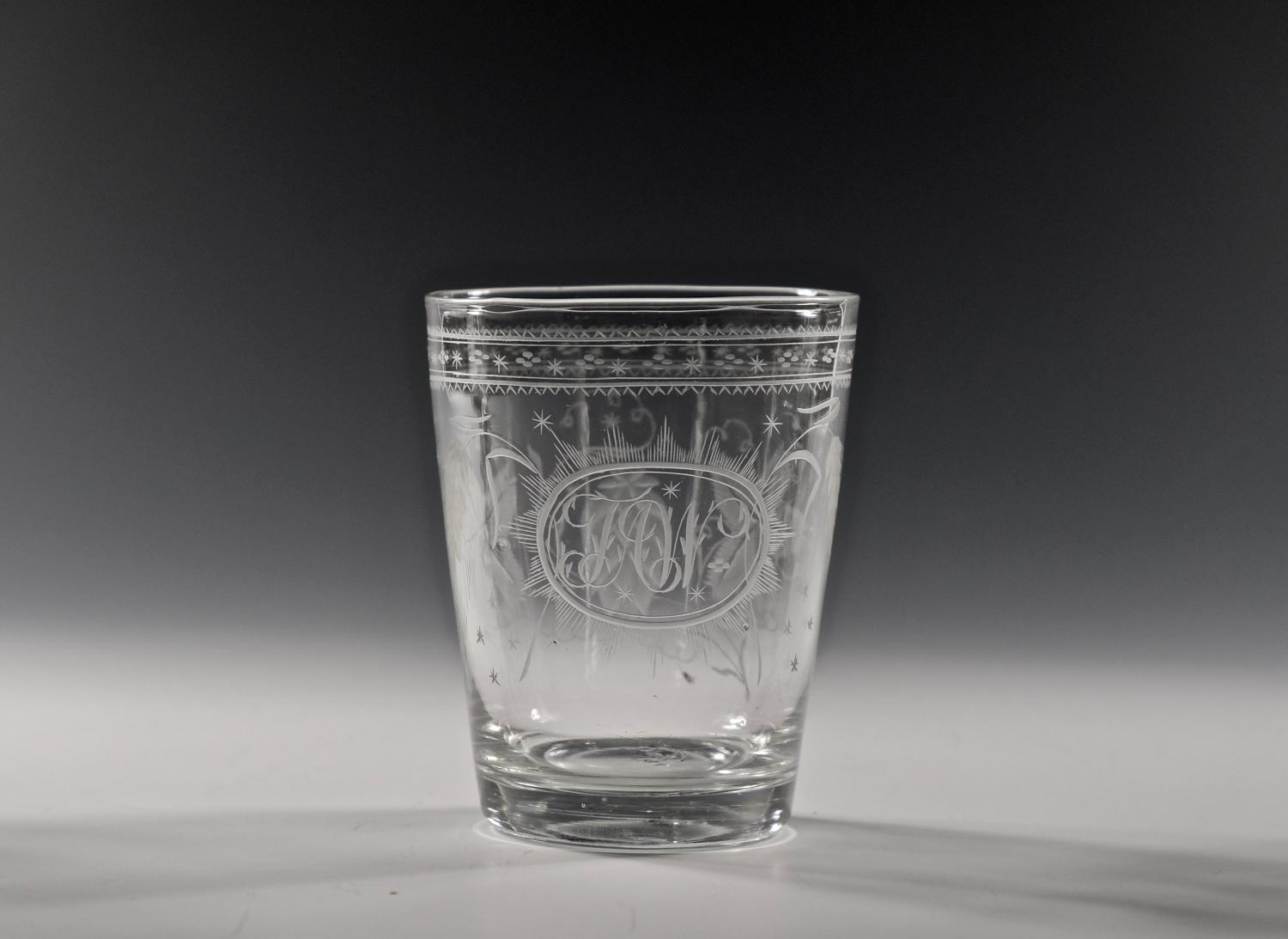 Large engraved tumbler English C1810
