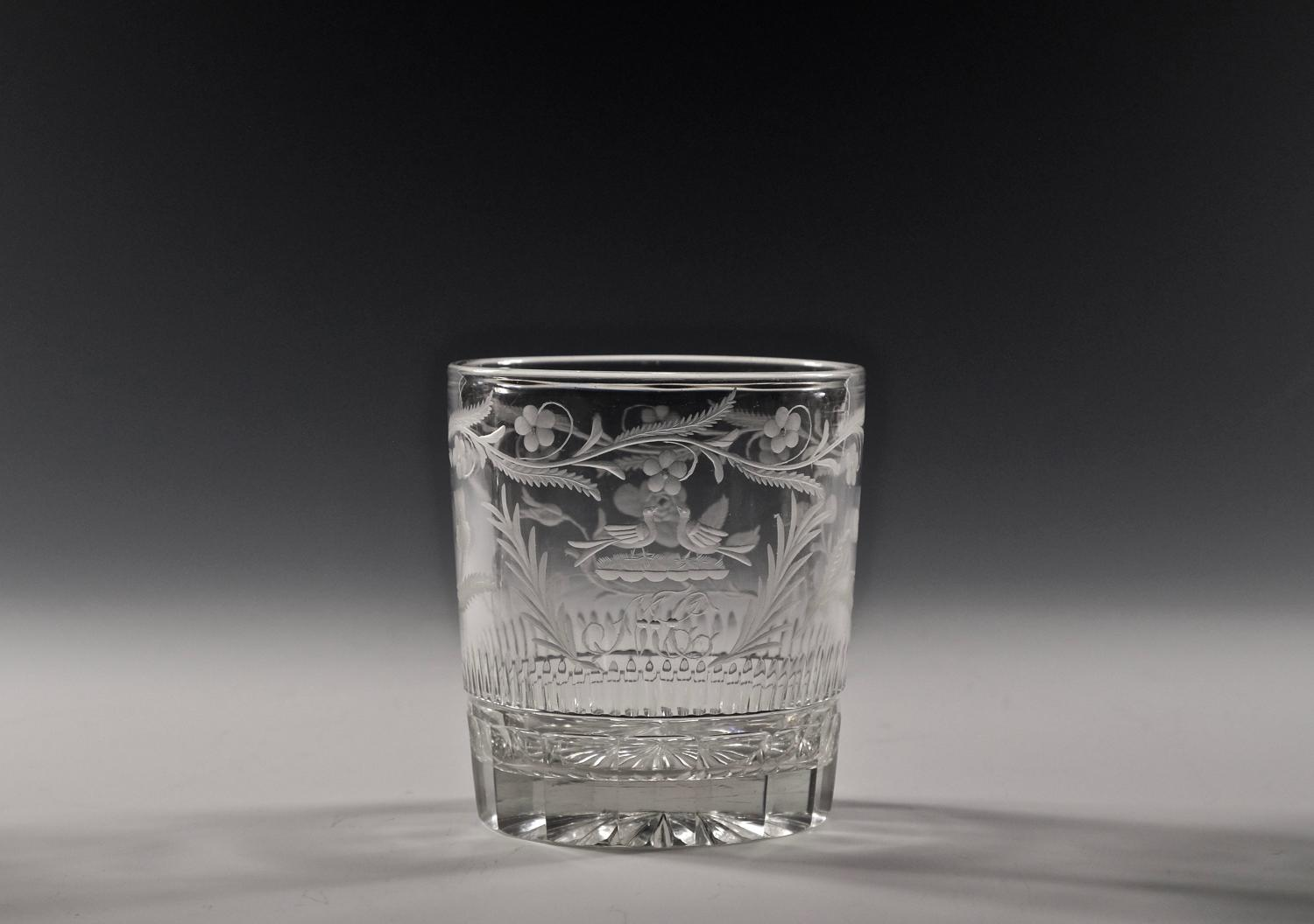 Charming small engraved tumbler English C1820