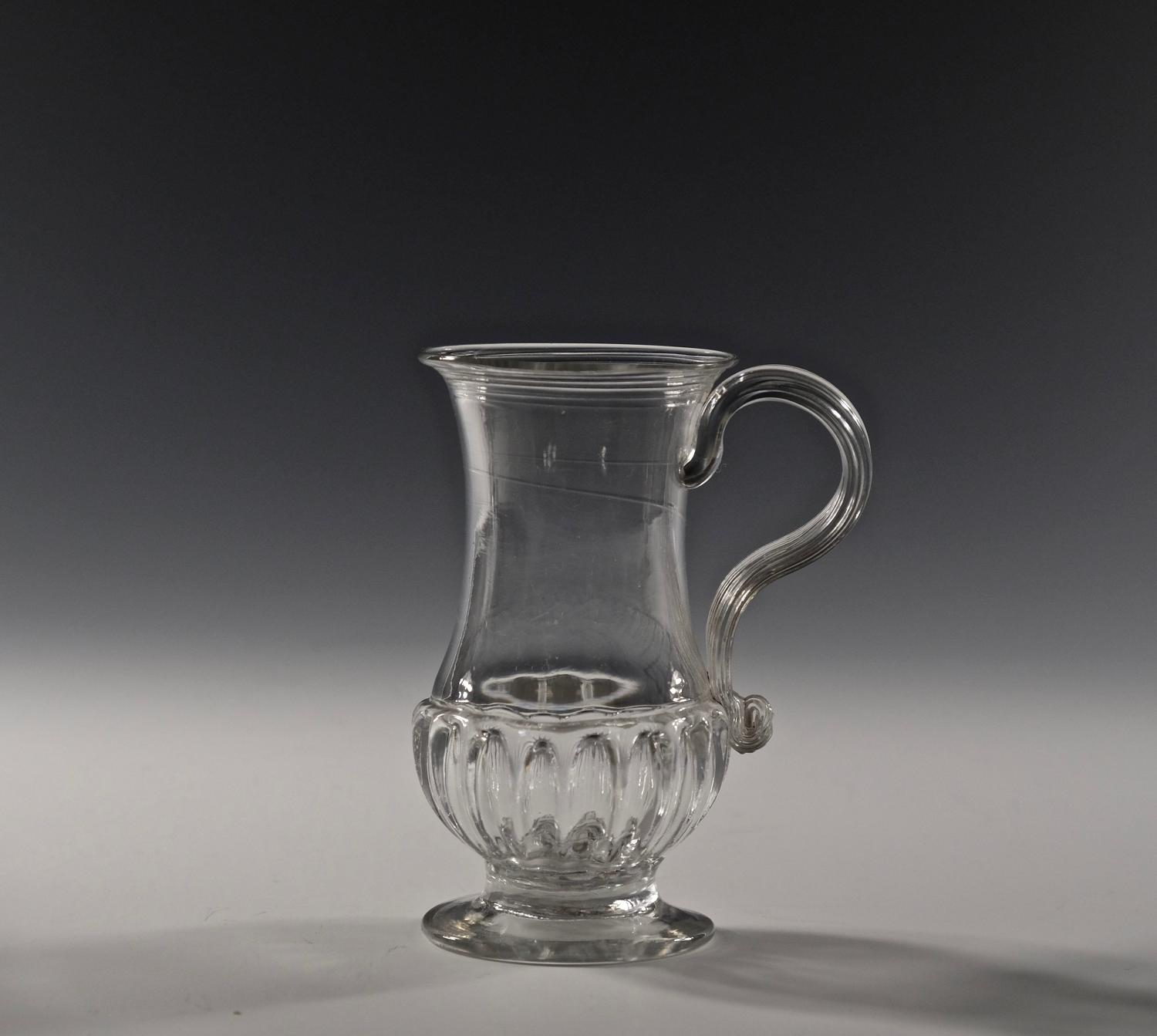 Small tankard with gadrooned base English C1770