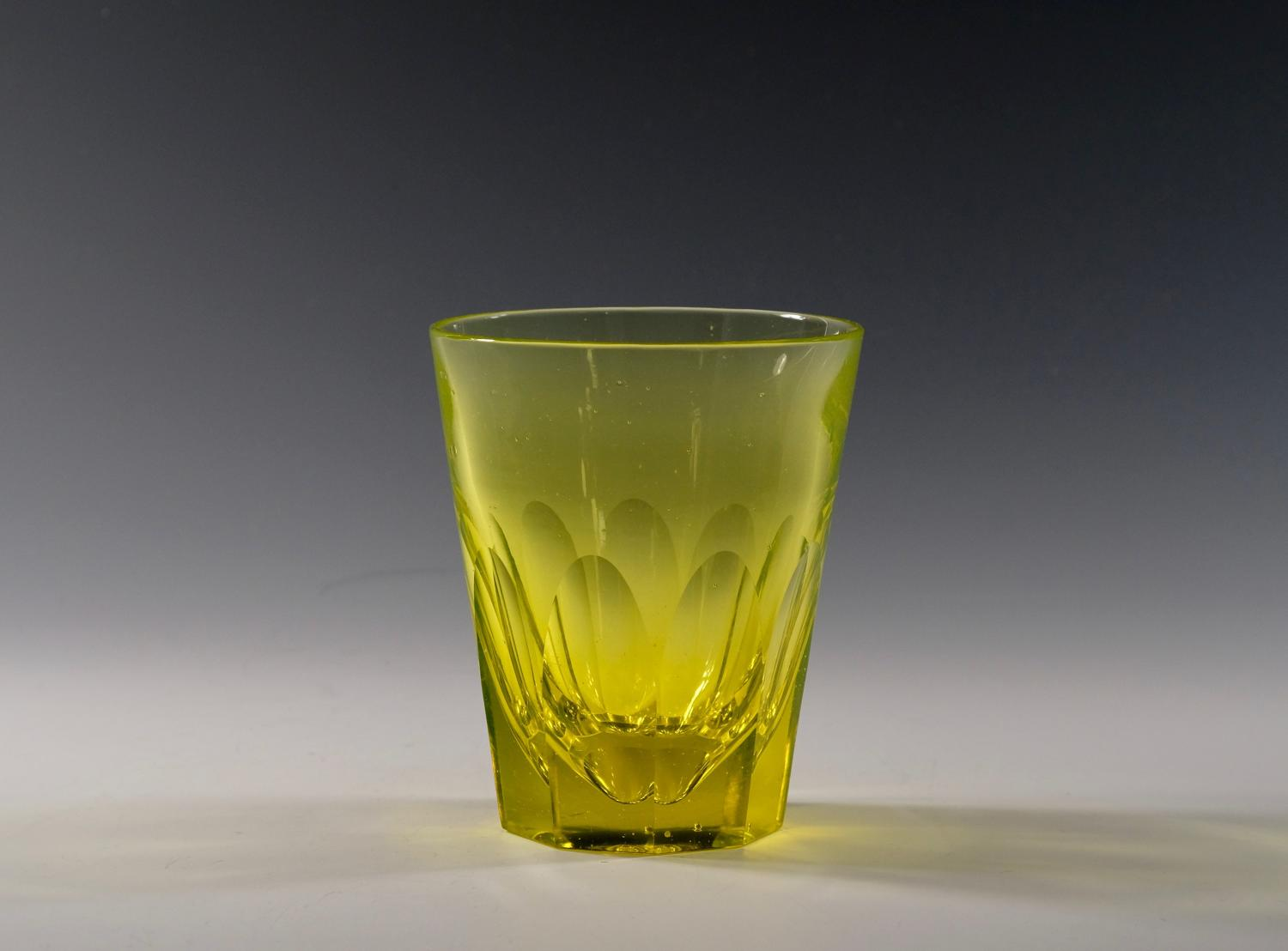 Rare yellow tumbler English C1860