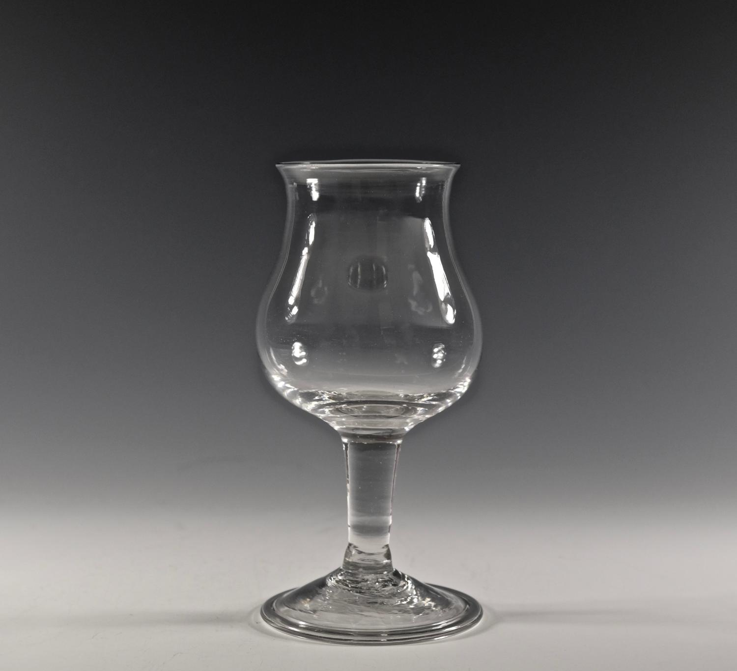 Plain stem goblet English C1760