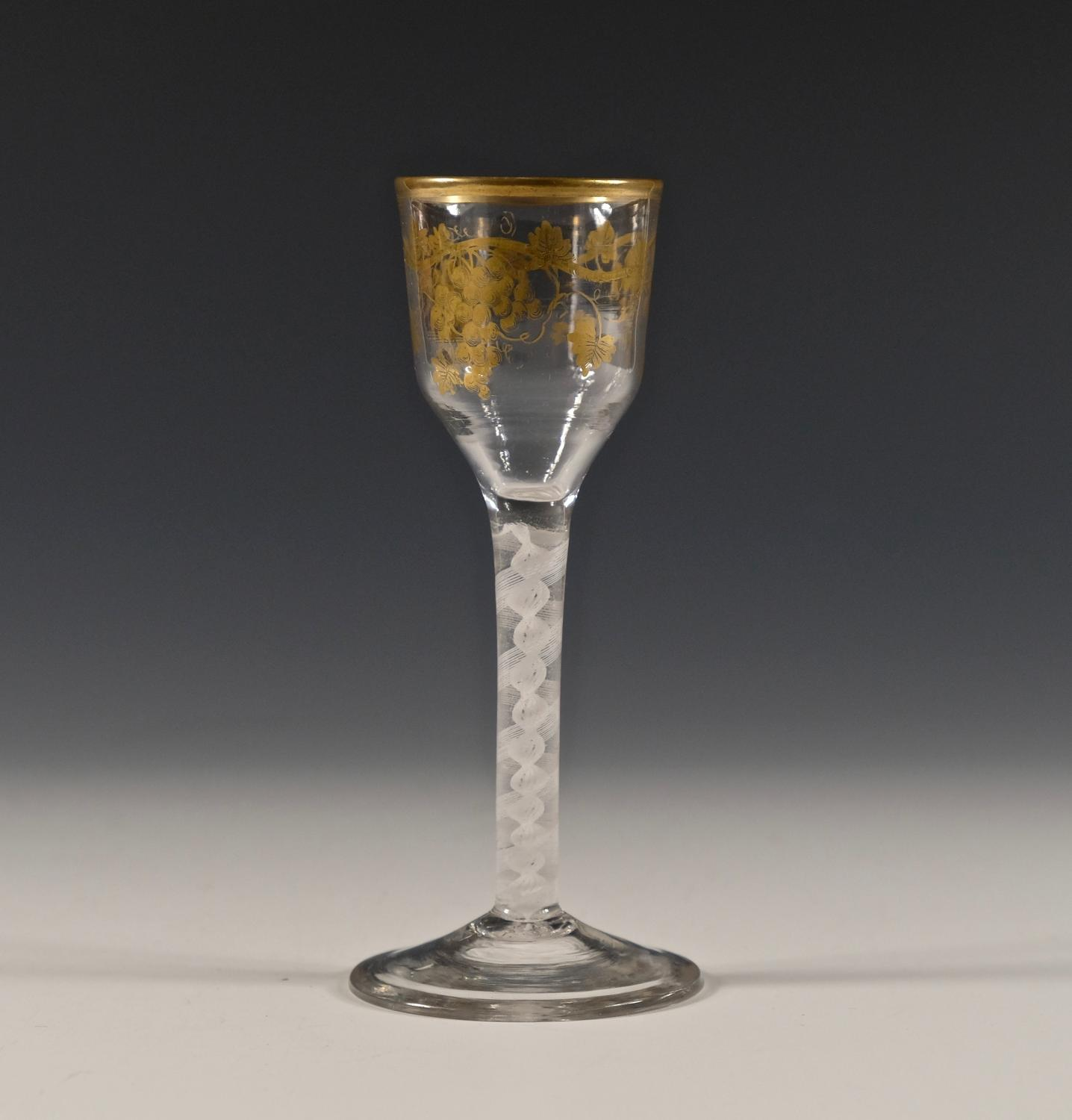 James Giles opaque twist wine glass C1765