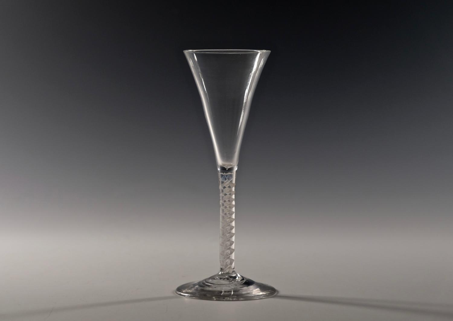 Double series opaque twist wine flute C1765