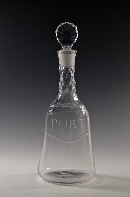 Mallet decanter engraved Port English C1770