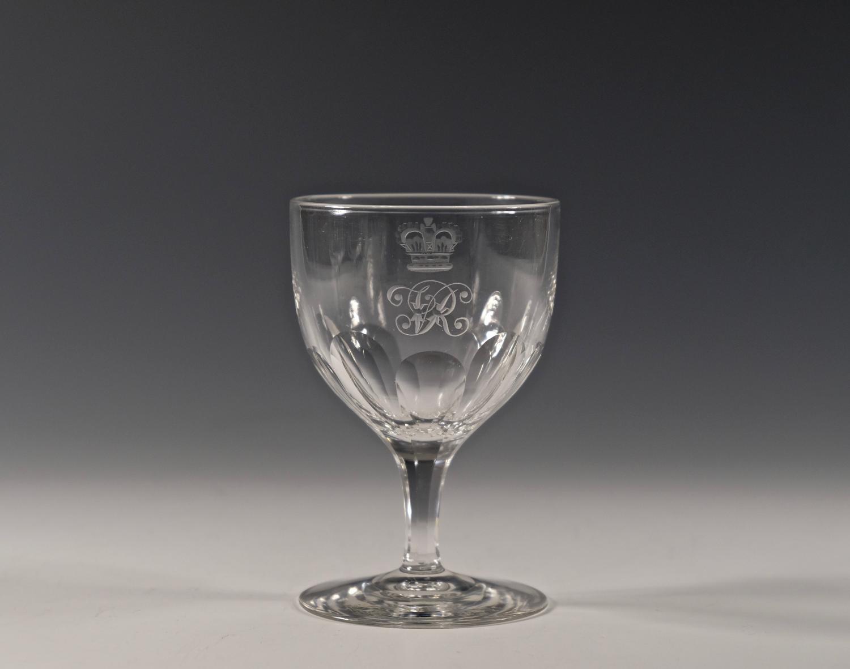 Wine glass from HMY 'Alberta' 1863.