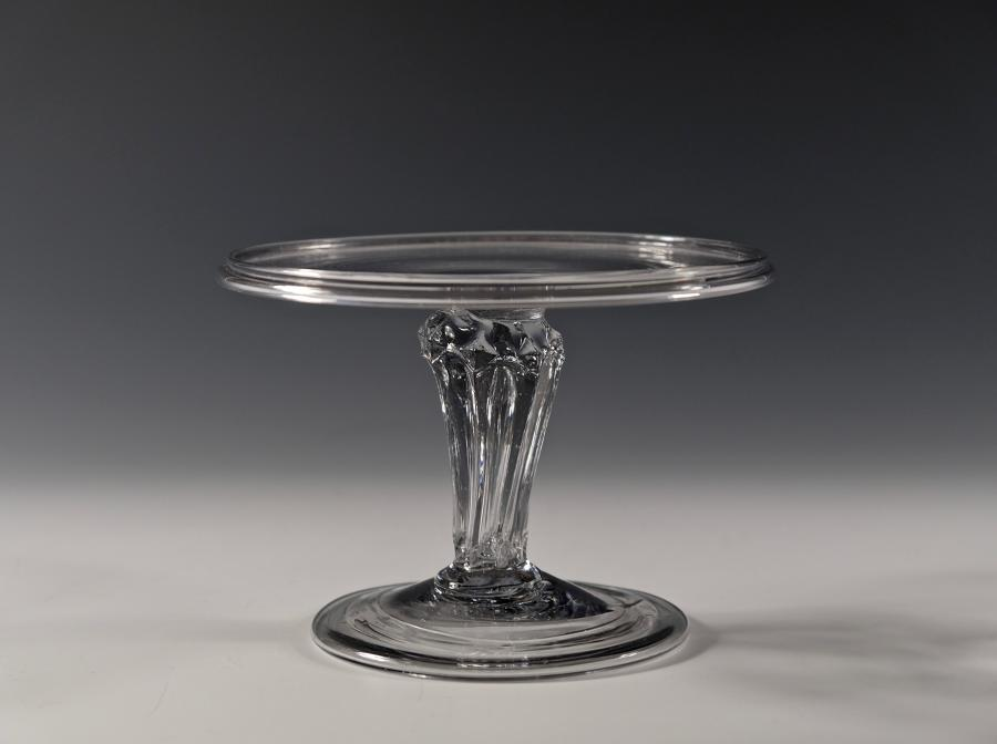 Small early 18th pedestal stem century tazza