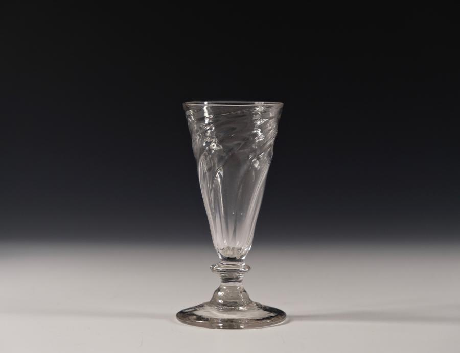 Wrythen ale glass English C1780-1800