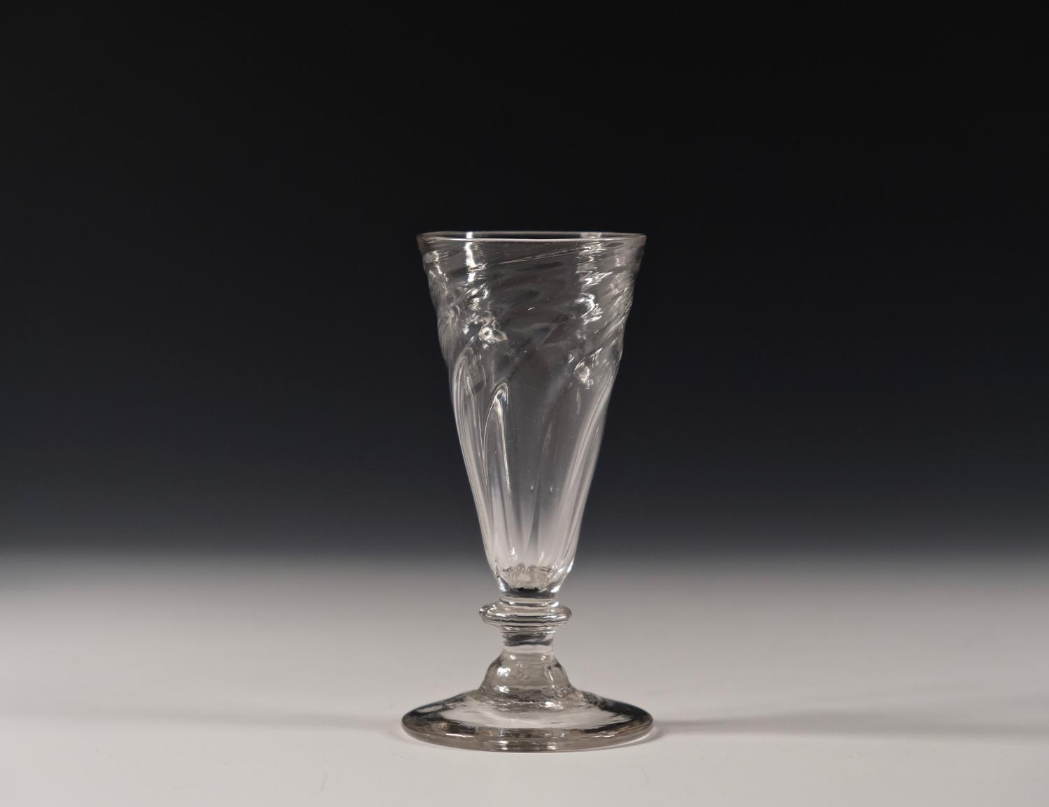 Wrythen ale glass English C1780-1800