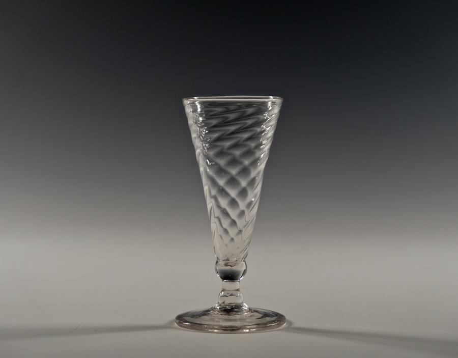 Wrythen ale glass English C1780 - 1800