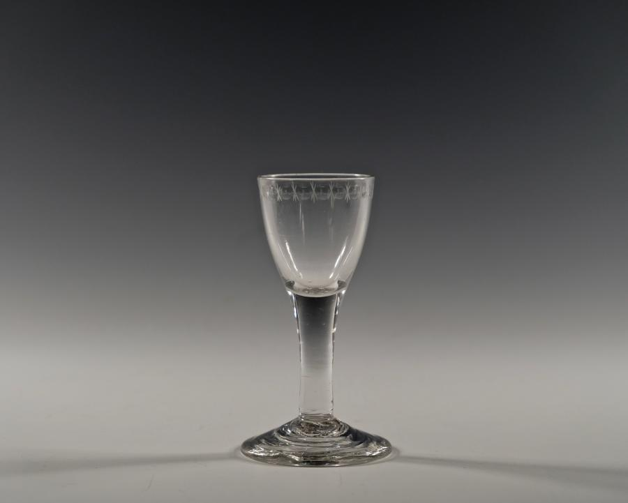 Plain stem wine glass C1760