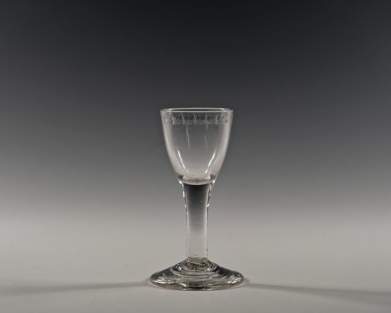 Plain stem wine glass C1760