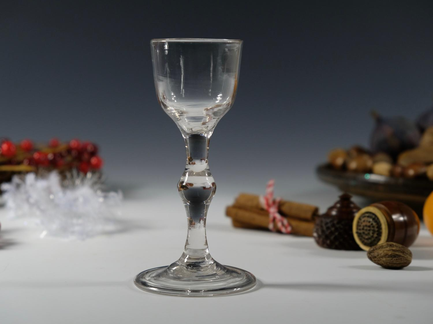 Balustroid wine glass English C1750