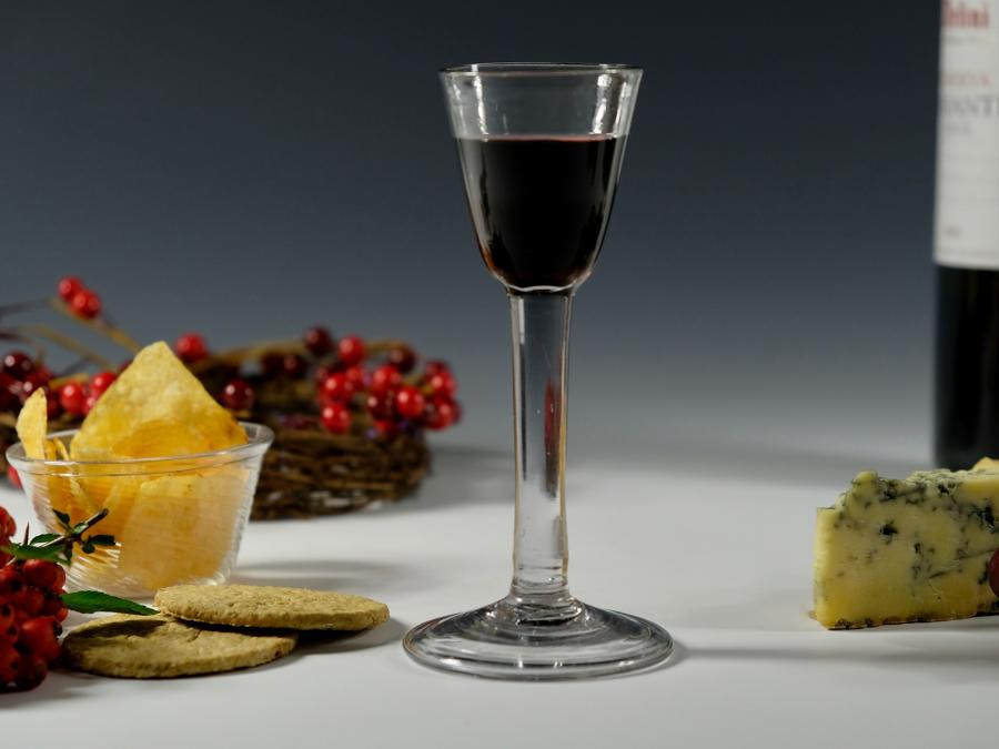 Plain stem wine / cordial glass English C1750