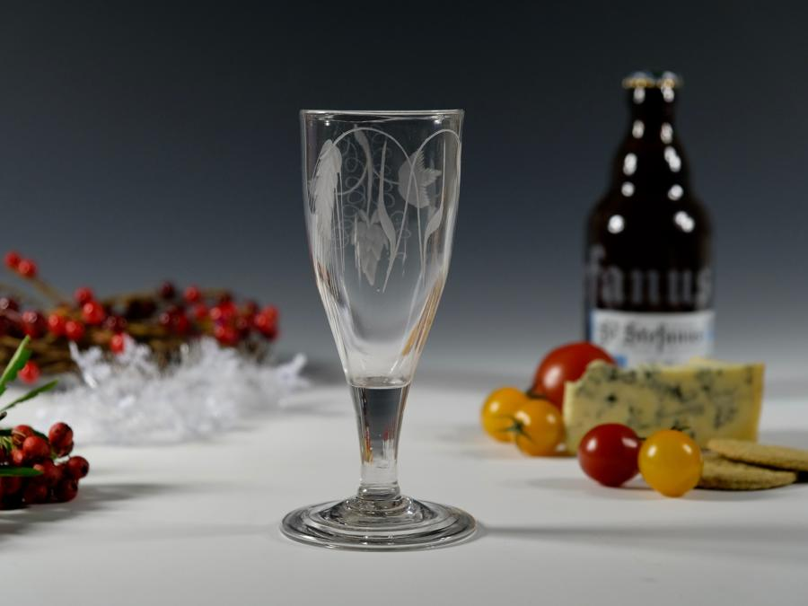 Plain stem ale glass English C1790 glass