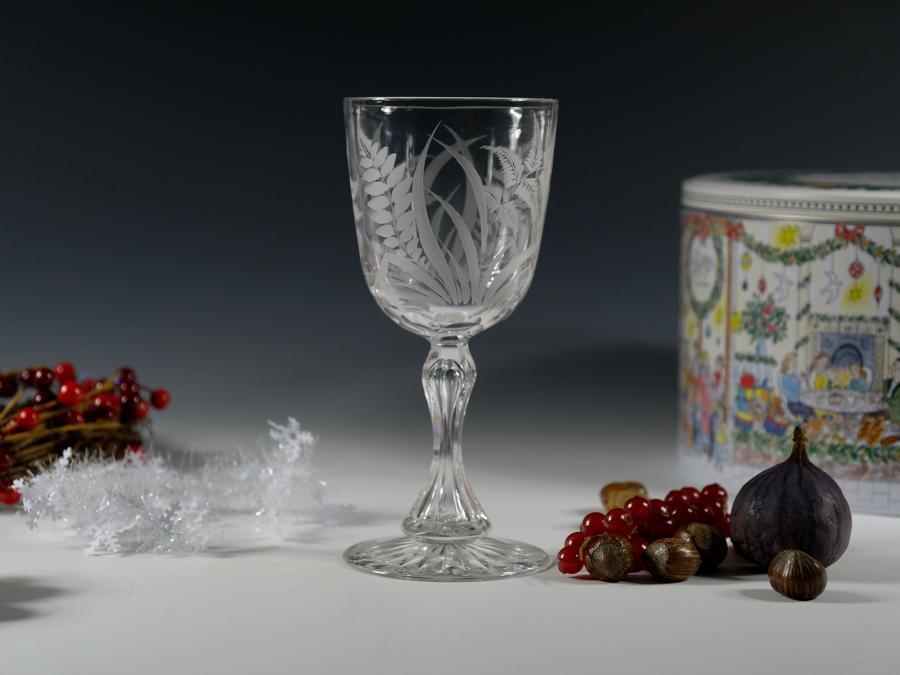 Engraved goblet English C1880