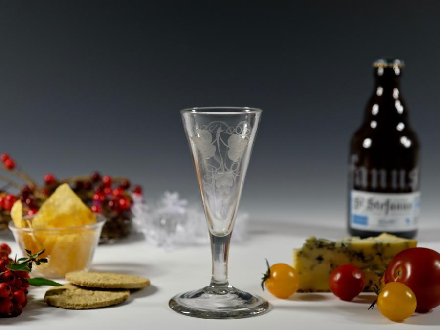 Plain stem ale glass C1780 /90