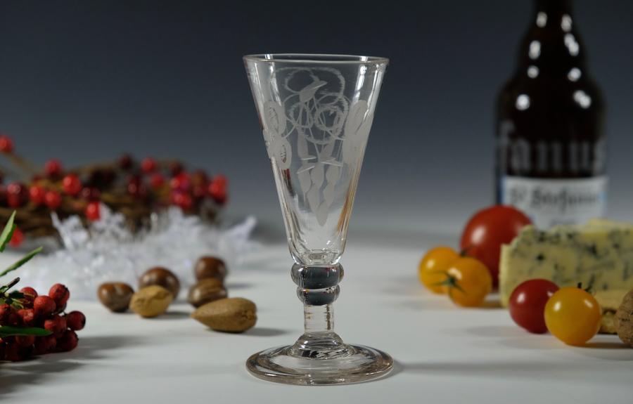 Dwarf ale glass English C1800