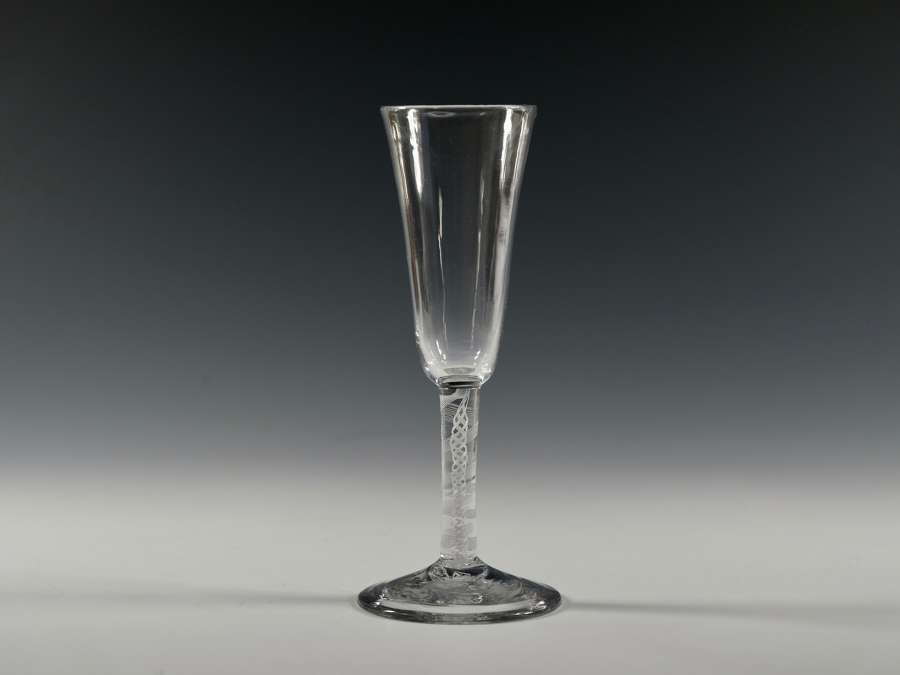 Ale glass opaque twist English C1765