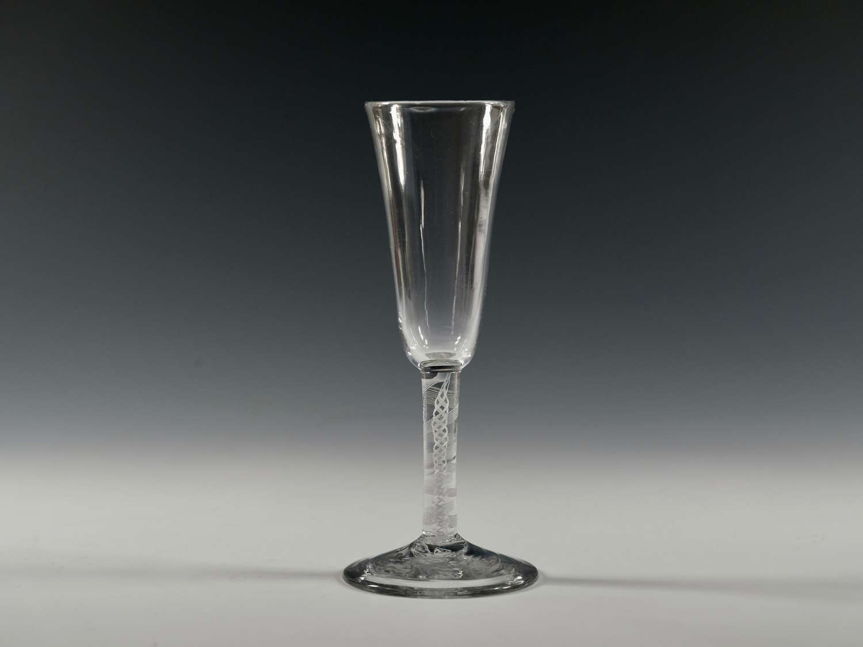 Ale glass opaque twist English C1765