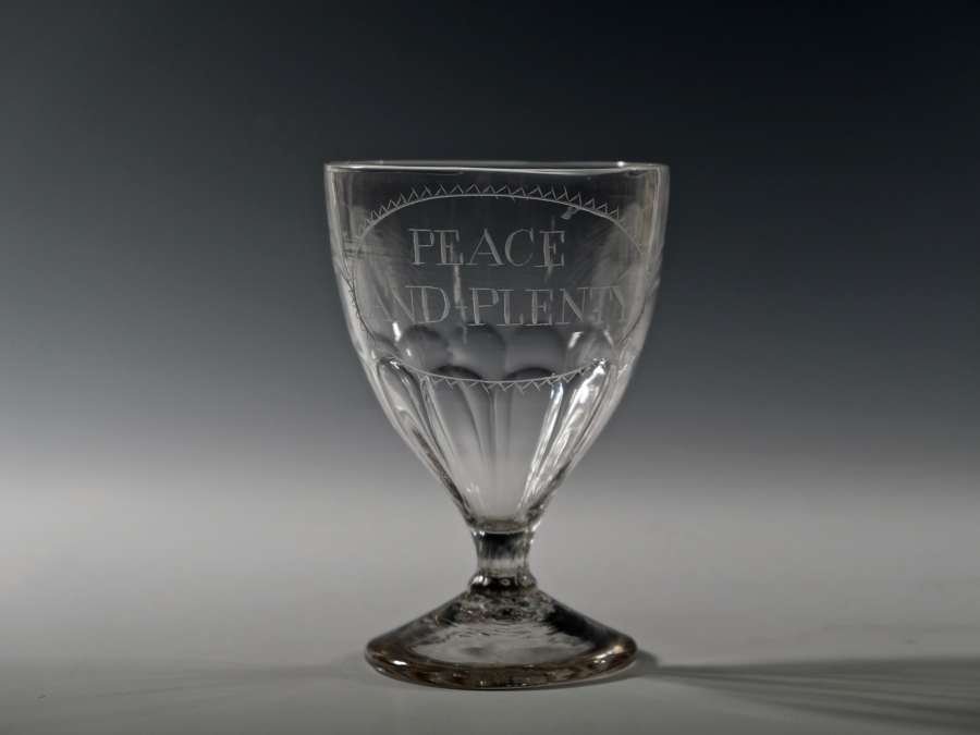 Rummer engraved peace and plenty English C1800