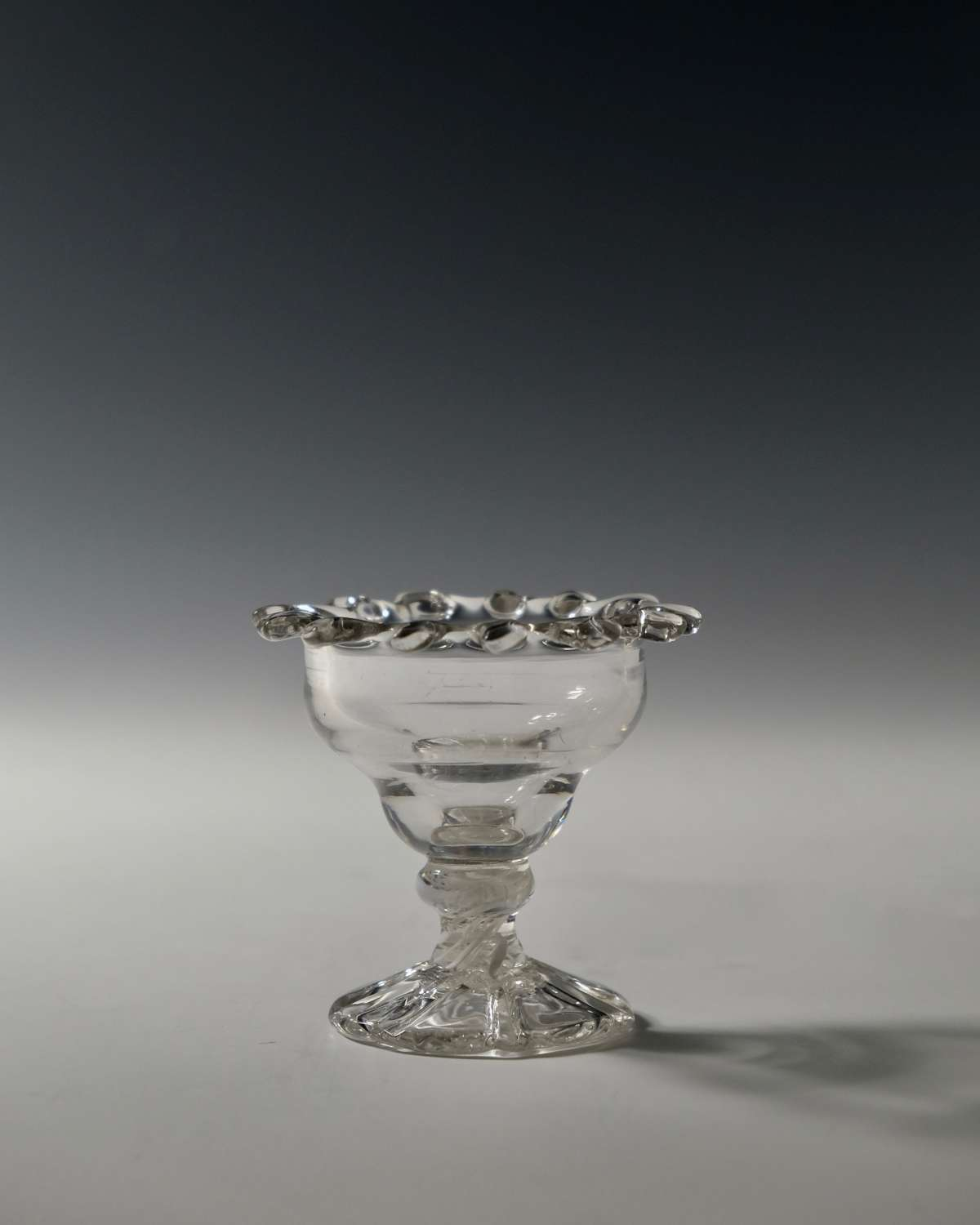 Small opaque twist sweetmeat glass C1765