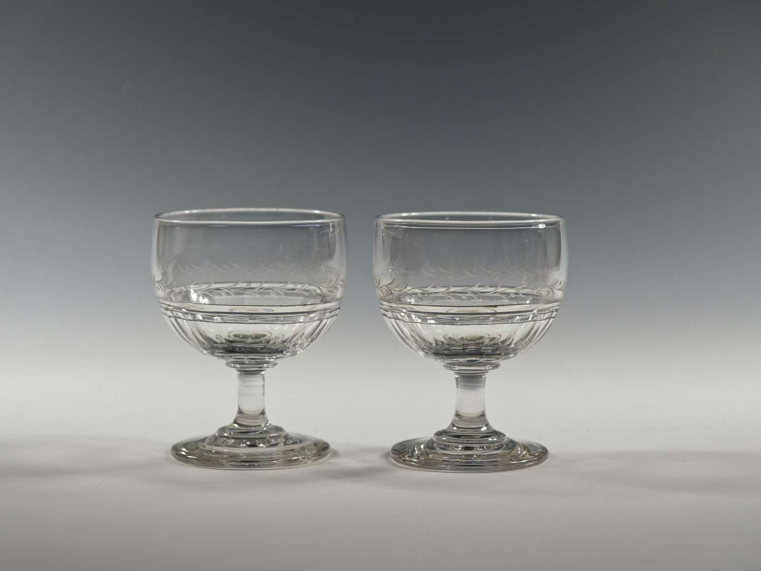 Pair of rummer English C1830