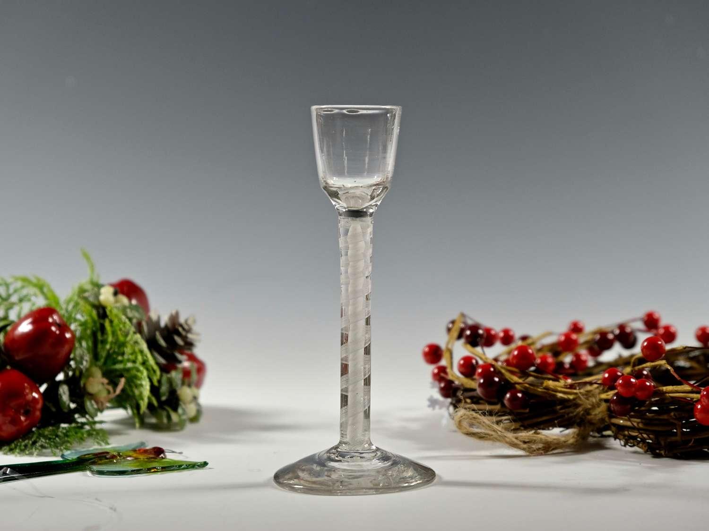 Double series opaque twist cordial glass C1765