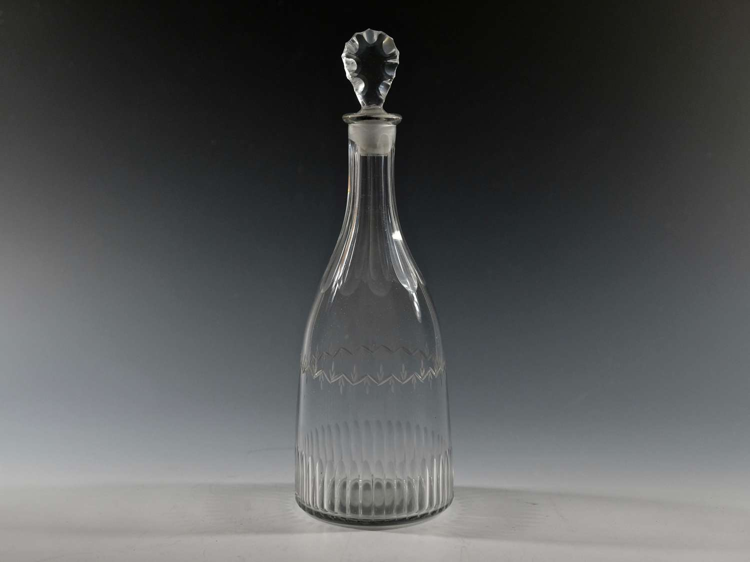 English glass taper decanter C1780