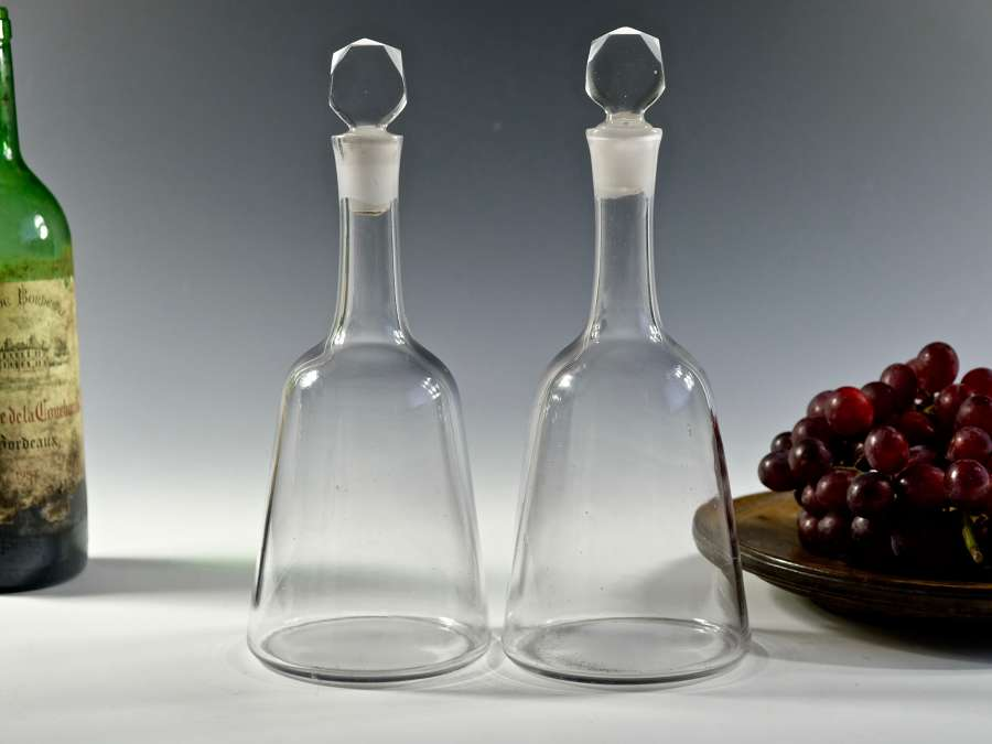 Pair of mallet decanters English C1770
