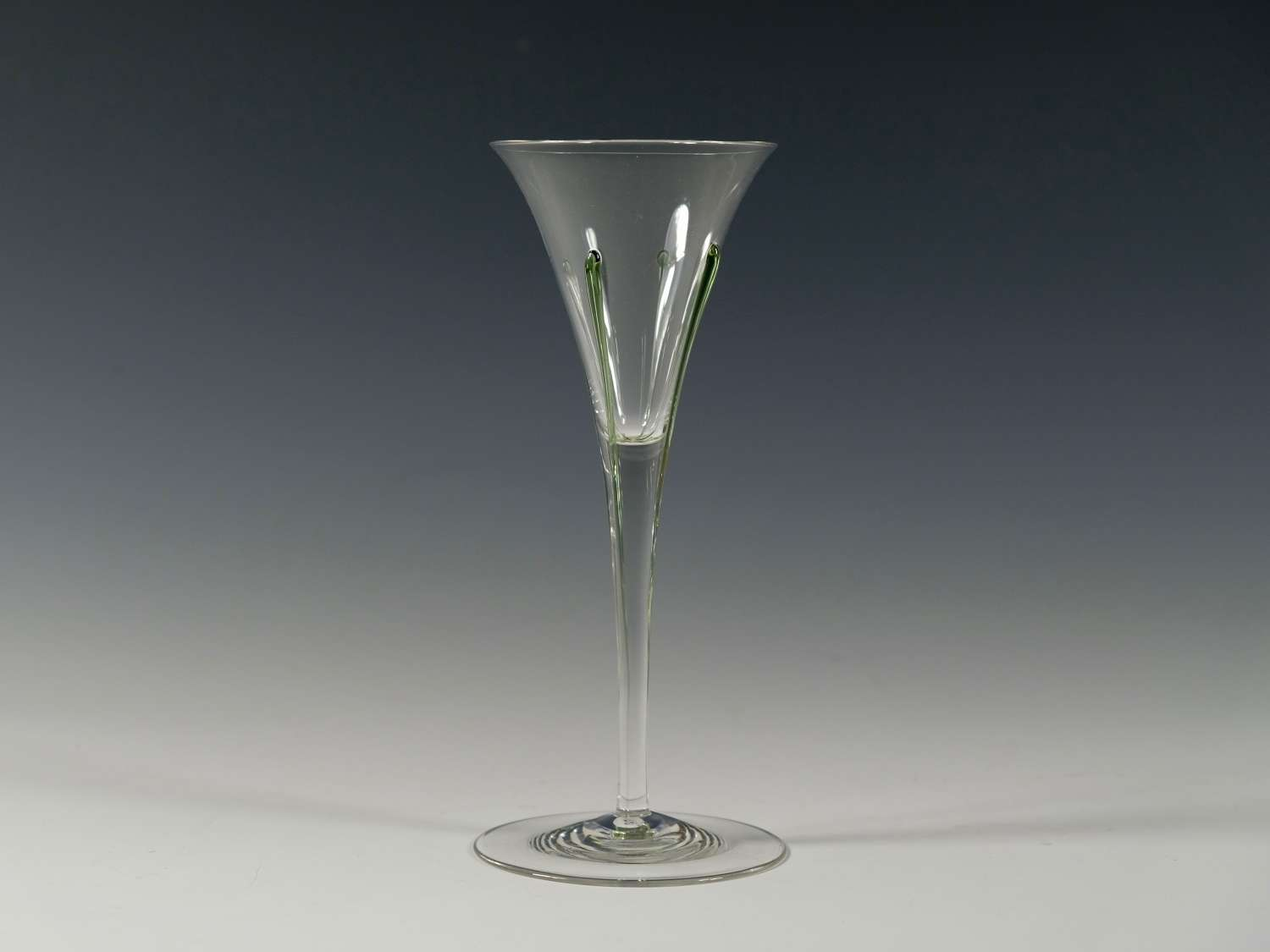 Wine glass with four green tears 1899