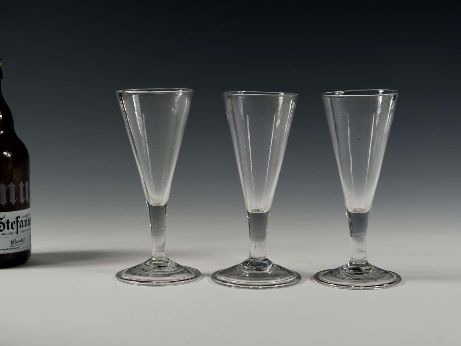 Three ale glasses English C1790