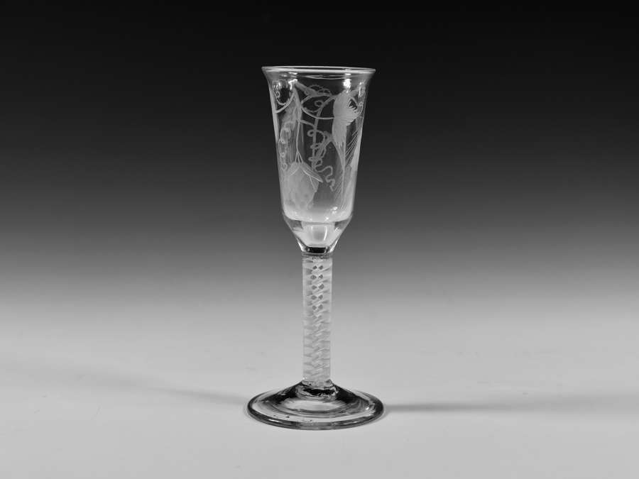 Double series opaque twist ale glass C1765