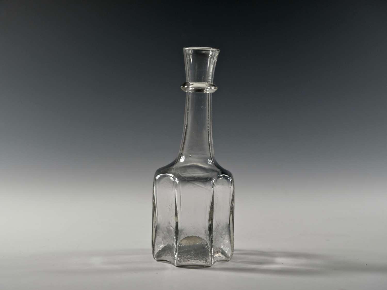 Antique serving bottle octagonal English C1730
