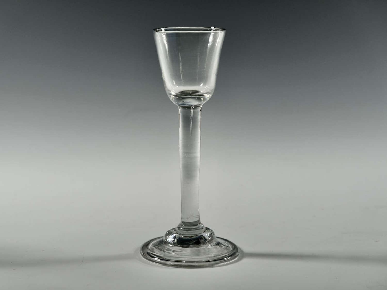 Plain stem cordial glass Irish C1740