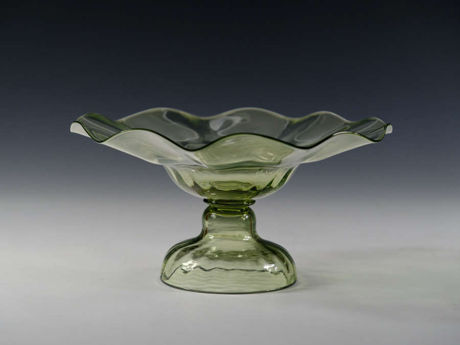 Sea green tazza Whitefriars C1890