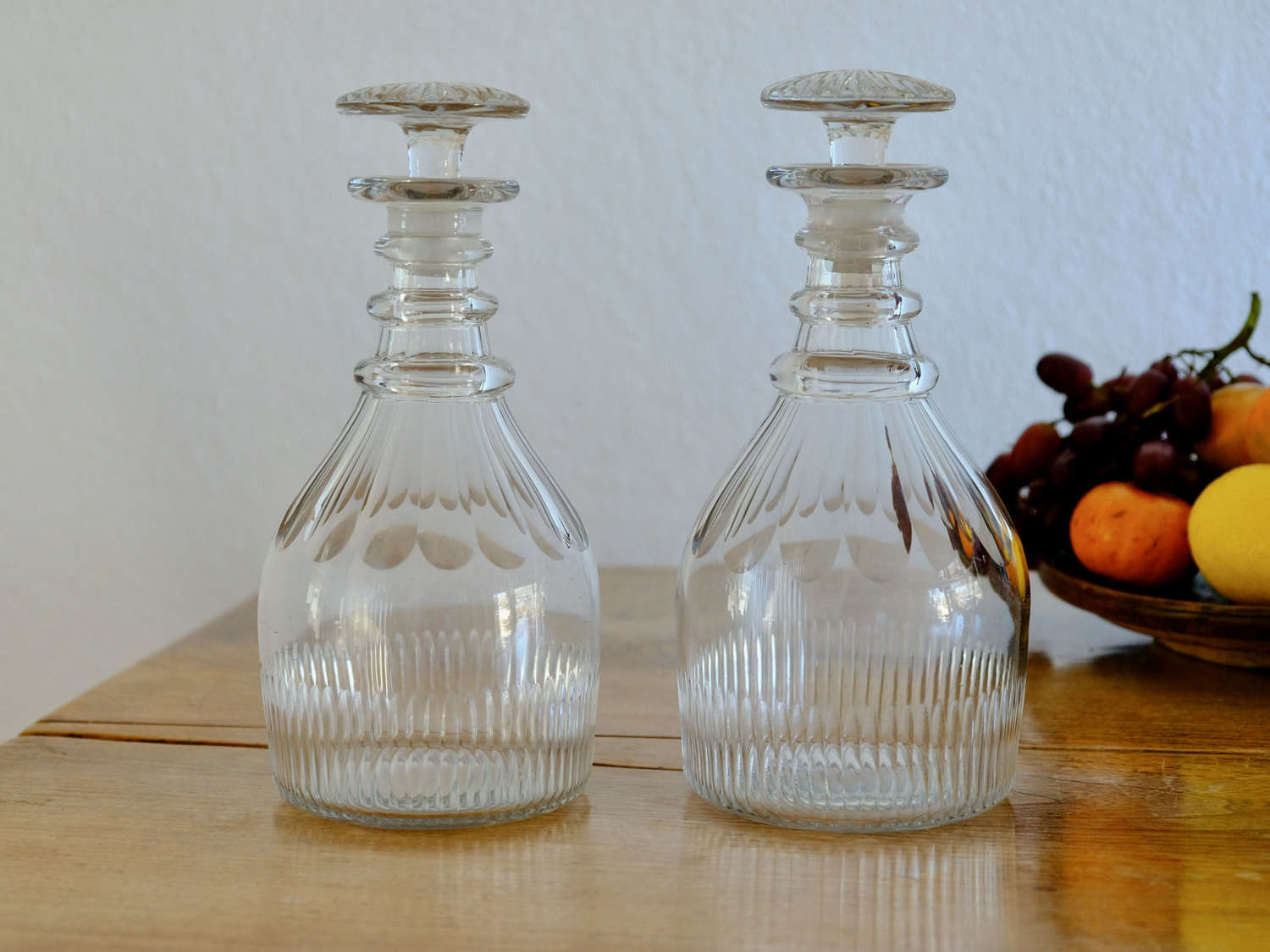 Fine pair of classic decanters English C1830