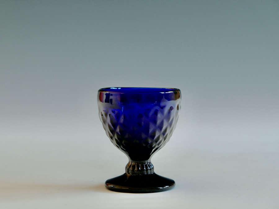 Blue bonnet glass English C1780