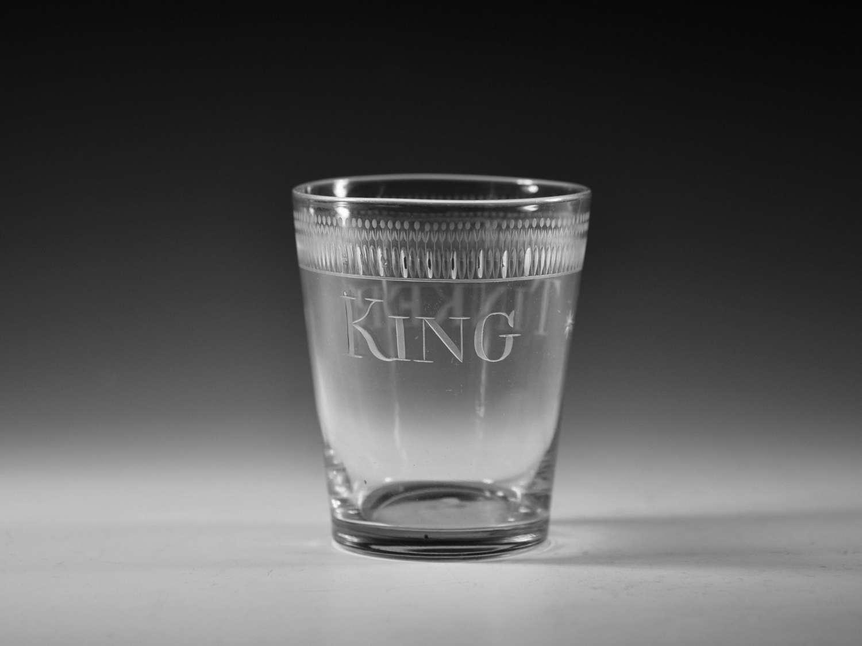 Trick tumbler engraved King Tinker C1810