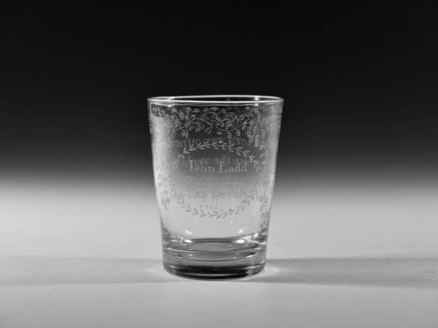 Diamond point engraved tumbler English 1804