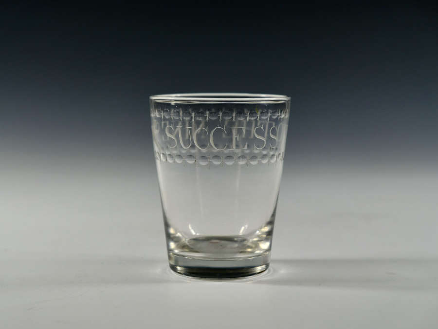 Tumbler engraved Success to the Mines English C1810